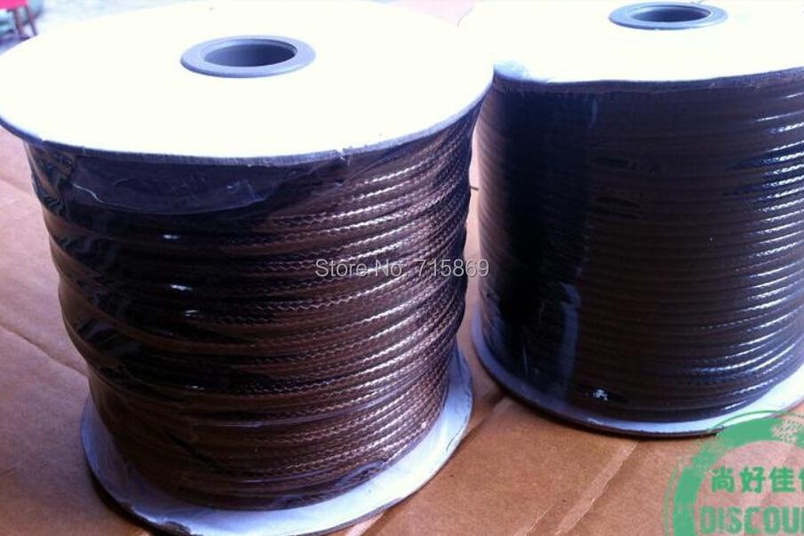 Бесплатная доставка 1 рулон 5 мм 34 метра круглый шнур вощеный шнурок ювелирный шнурок черный/кофе вы выбираете