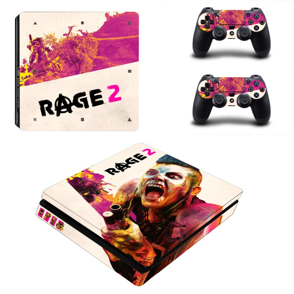 RAGE 2 Stickers For Playstation 4 Slim PS4 SLIM Console Cover Vinyl  Decals Controllers Sticker game Gamepad Skin