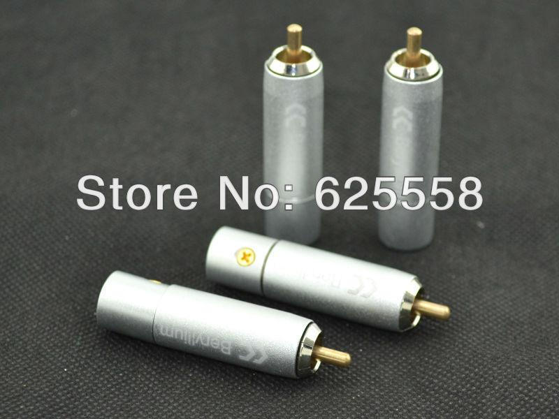 Plug & Connectors Active 8pcs Yivo High Quality Hifi Diy 9mm Silver Plated Or Gold Plated Brass Rca Plug Auido Connector