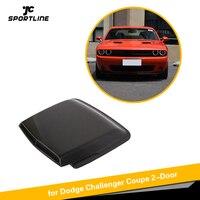 Передняя вентиляция в капоте углеродная заглушка из волокна Автомобильная вентиляция в капоте s воздухозаборник Совок крышки для Dodge Challenger