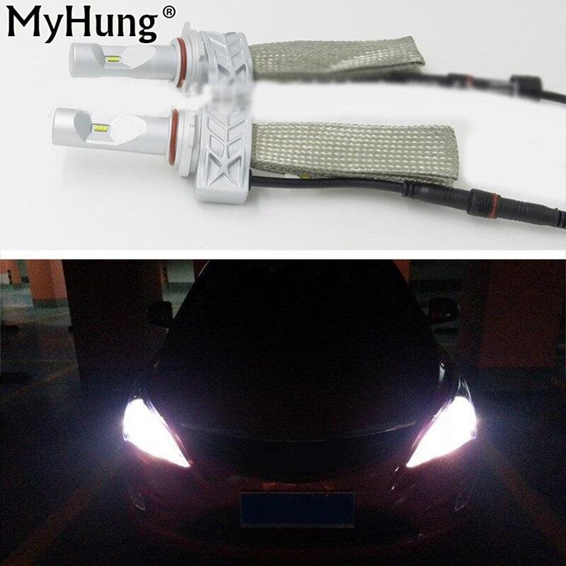 2x 9005 HB3 6000LM 60W For Car Headlight Conversion Kit Bulb DRL Daytime Driving Fog Light 24V Copper Strip Cooling Car-Styling