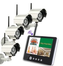 YobangSecurity Wireless 4CH CCTV DVR Security Camera Surveillance System 4 digital Cameras with 9″ TFT LCD DVR Baby monitor