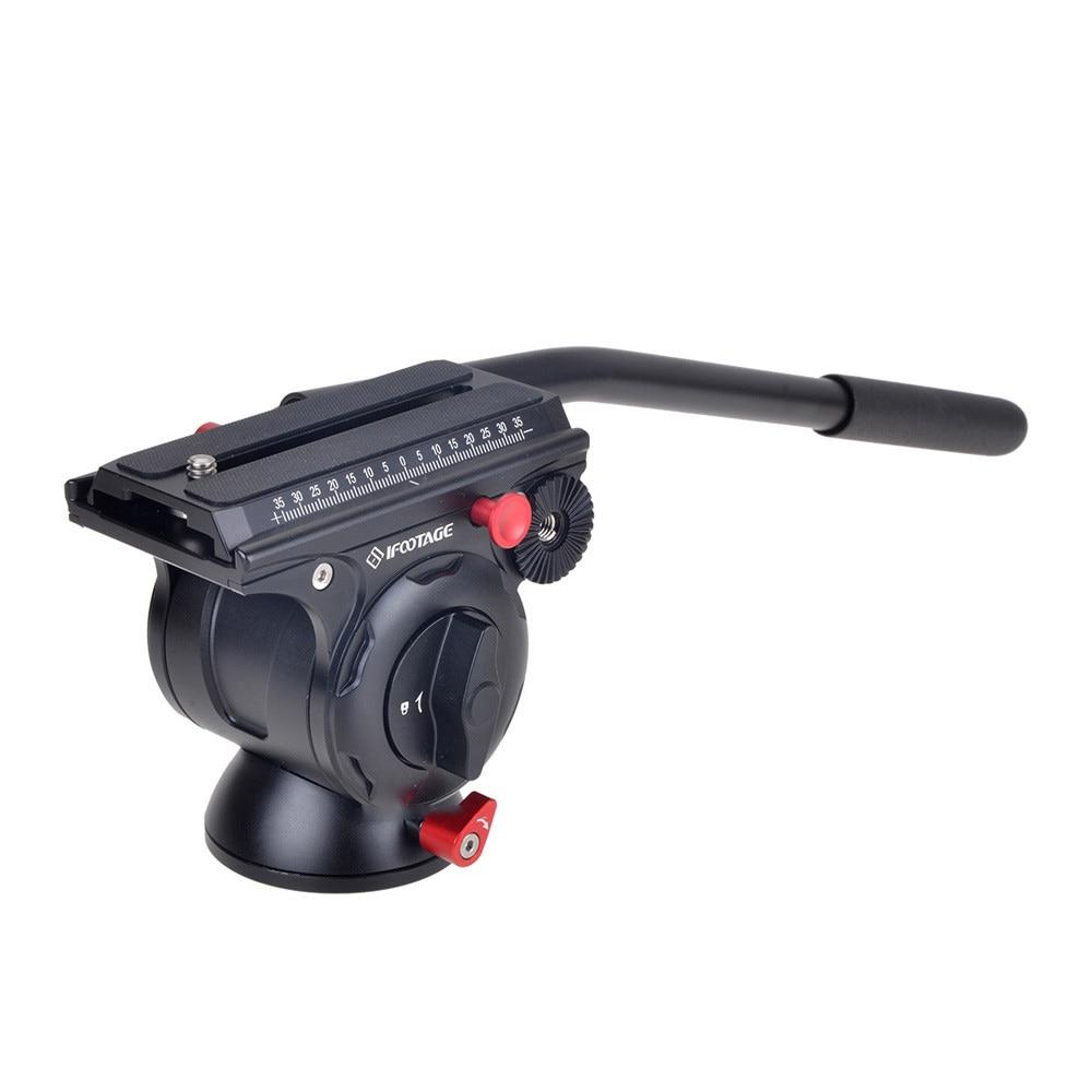 IFootage Комодо K5 уникальный видео с панорамной головкой для легкий гидравлическая демпфирующая для DSLR Камера штатив монопод