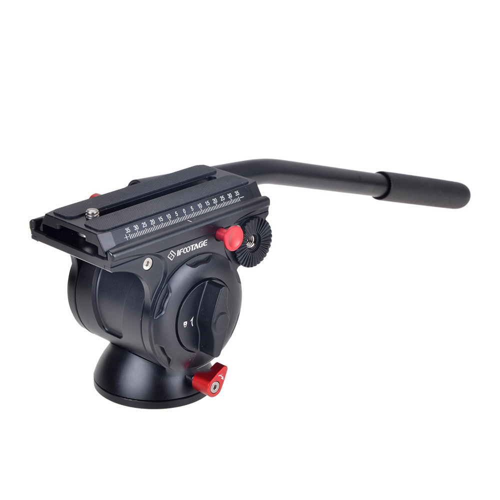 iFootage KOMODO K5 Unique Video Fluid Head Lightweight Hydraulic Damping for DSLR Camera Tripod Monopod benro s2 professional compact video fluid head hydraulic damping panoramic tripod head for dslr video camera monopod head slider