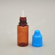 Hurtownie darmowa wysyłka pusta butelka Amber PET 10 ML plastikowe butelki z zakraplaczem ze śrubą metalowe igły Cap