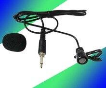 100 pcs profissional de lapela lapela laço clipe microfone condensador cardióide para sennheiser sem fio transmissor portátil 3.5mm