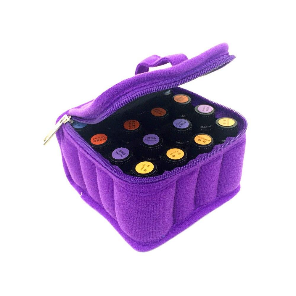 Portable 16 Makeup Tools Bag Carrying Holder Case Travel Makeup Tool Nail Polish Organizer Storage Box Container Toiletry Kits