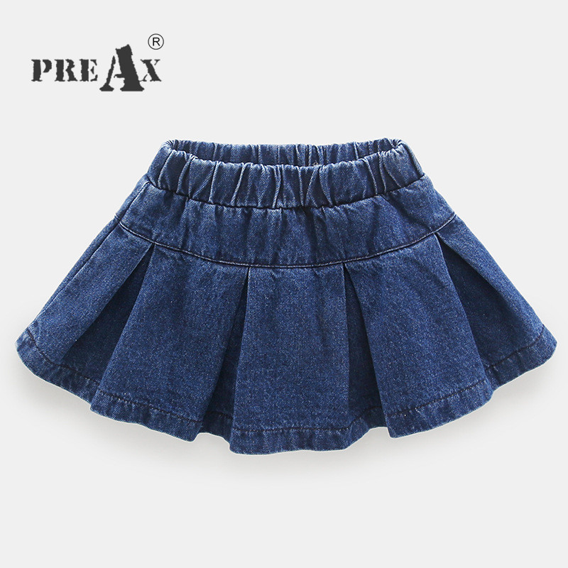 Baby Girls Skirt 2018 Spring Solid Blue Denim Skirt Children Clothes Roupas Infantis Menina Children Clothes Free Drop Shipping vintage single breasted solid color furcal denim suspender skirt