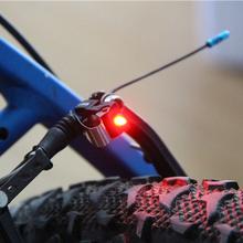 Najwyższej jakości Nano Rowerów Światła Stopu LED Tylne Światła Bezpieczeństwa Lampka ostrzegawcza Nadaje Się Do V Hamulca Disc Brake drop shipping tanie tanio Zaworu opony czapki Baterii 5626