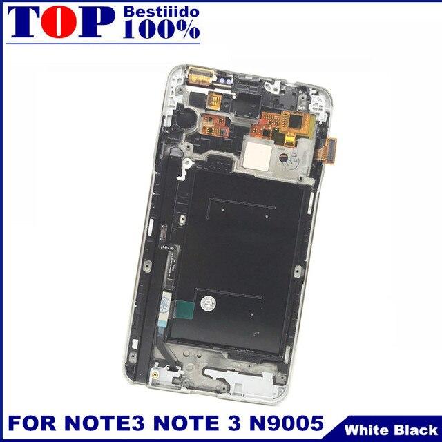 تعديل سطوع شاشات LCD لسامسونج غالاكسي ملاحظة 3 N9005 Note3 LCD إطار عرض مجموعة المحولات الرقمية لشاشة تعمل بلمس استبدال