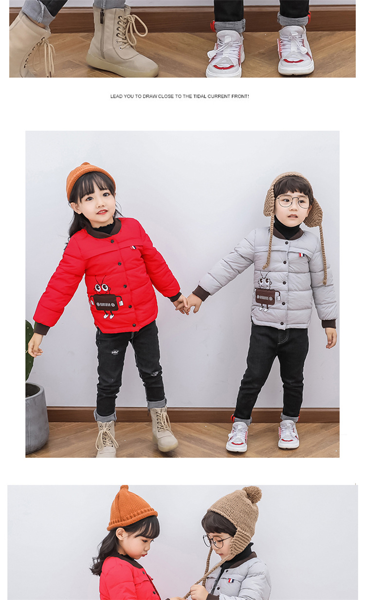 2018 Baby Boys Children Outerwear Coat Kids Jackets For Boy Girls Winter Jacket Warm Hooded Children Clothing Gray Khaki Red (13)