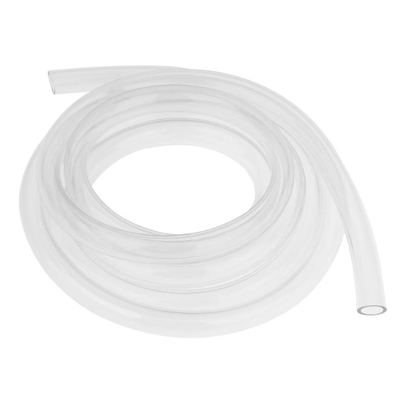 2m / 6.56ft 9.5 x 12.7mm Transparent Clear Soft PVC Water Cooling Pipe Tube Water Cooler for Computer PC Water Cooling System water valve connector sucking pipe of filling machine water drawing hose pvc pipe steel spring inside food safe od 40mm 2m