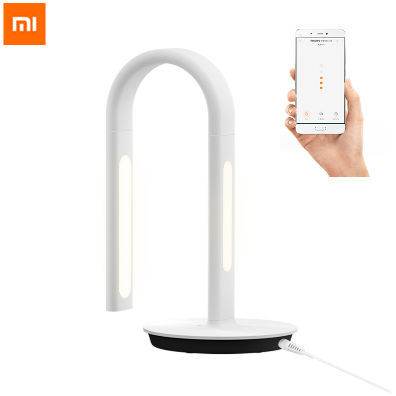 Original Xiaomi Mijia LED Eyecare Smart Desk Lamp 4 Lighting Modes  Smart Table Lamps Desklight Control for Smart Phone App original xiaomi mijia led desk lamp smart table lamps desklight support mobile phone app control 4 lighting modes reading led