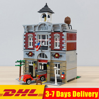 2313PCS 15004 City Fire Brigade Doll House Building Kits Assembing Blocks Compatible Legoings 10197 Gift Funny Toy For Children