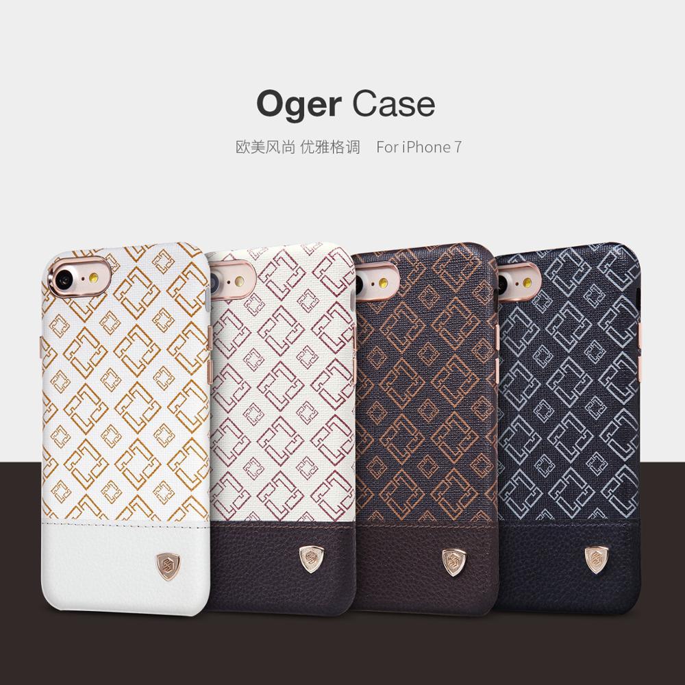 bilder für Ursprünglicher Nillkin Marke Plaid Muster Rückseite Haut Luxus Leder Hartplastik Fall für Apple iPhone 7 iPhone7 4,7 zoll