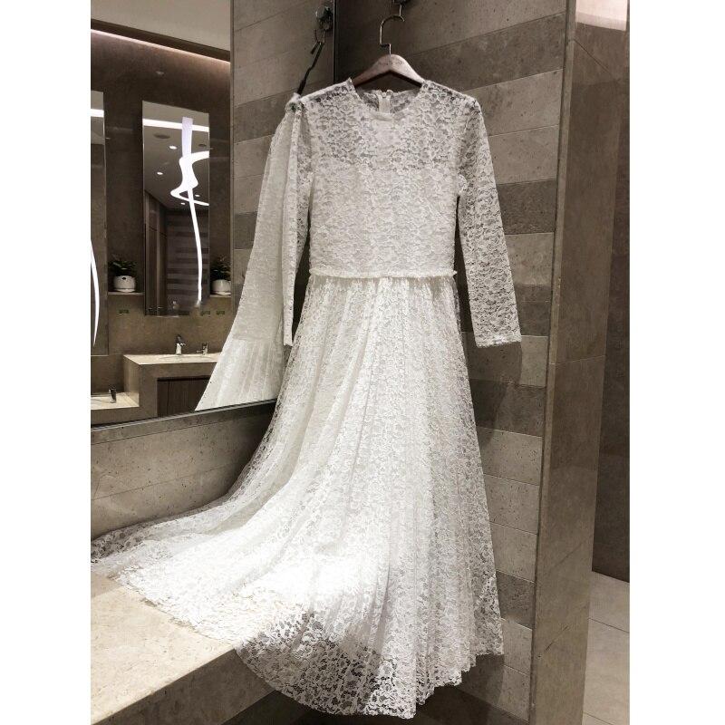 2019 женское весеннее летнее платье кружевное длинное платье ретро женское длинное платье с круглым вырезом элегантное кружевное изысканное
