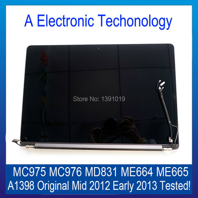 "Оригинал Для Apple Macbook Pro Retina 15 ""A1398 ЖК Compelet Ассамблея Середина 2012 Начале 2013 MC975 MC976 MD831 ME664 ME665"