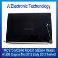 Original For Apple Macbook Pro Retina 15'' A1398 LCD Compelet Assembly Mid 2012 Early 2013 MC975 MC976 MD831 ME664 ME665