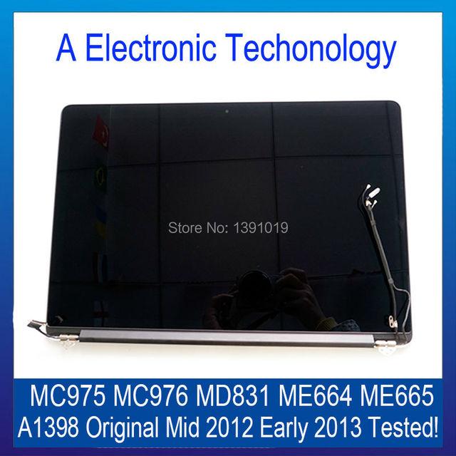 Original Para Apple Macbook Pro Retina 15 ''LCD A1398 ME664 Assembléia Meados de 2012 Início de 2013 MC975 MC976 MD831 Compelet ME665