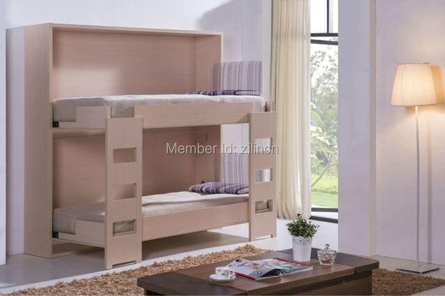Kids dubbele bedden verborgen muur bed murphy for Bed in muur