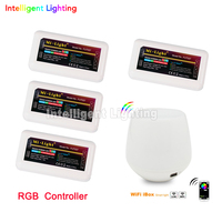 Free Shipping Dimmable 2 4G Touch WiFi Wireless 4 X LED RGB Controller Mi Light For