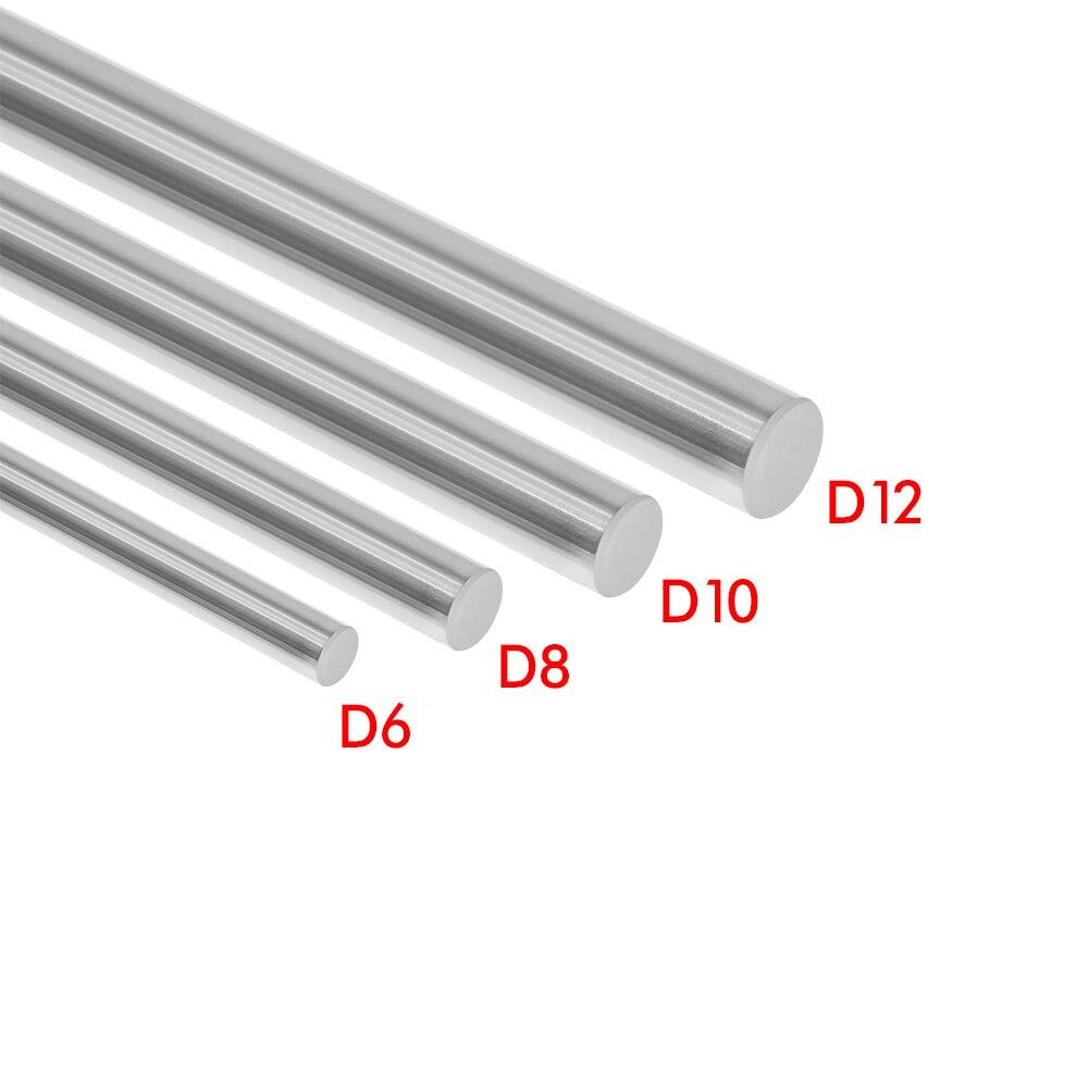 12 мм линейный вал 200 300 350 400 450 500 600 мм хромированный усиленный стержень линейный вал движения части ЧПУ Запчасти для 3d принтера