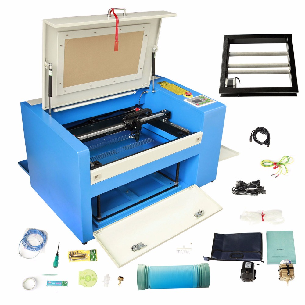 (Ship from USA) 50W CO2 Laser Engraving Cutting Machine CNC Engraver Cutter High Precise USB Port uk free shipping 40w co2 laser engraver engraving cutter cutting machine usb port 220v