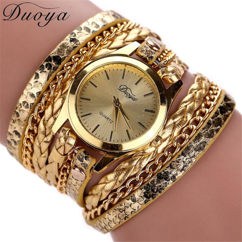 DUOYA watch bracelet women Clock Hot selling luxury fashion pendant women watches Reloj mujer ladies leather watch brand Girl duoya 2017 fashion ladies watches women luxury leaf fabric gold wrist for women bracelet vintage sport clock watch christmas gif