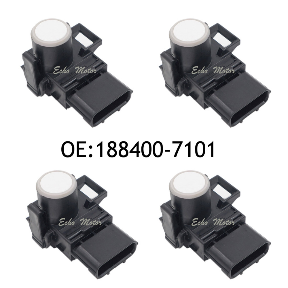 New SET(4) 188400-7101 040 PDC Parking Ultrasonic Sensor white color For Toyota new 4pcs original parking sensor 10ca0212a ultrasonic pdc sensor for toyota yaris mazda