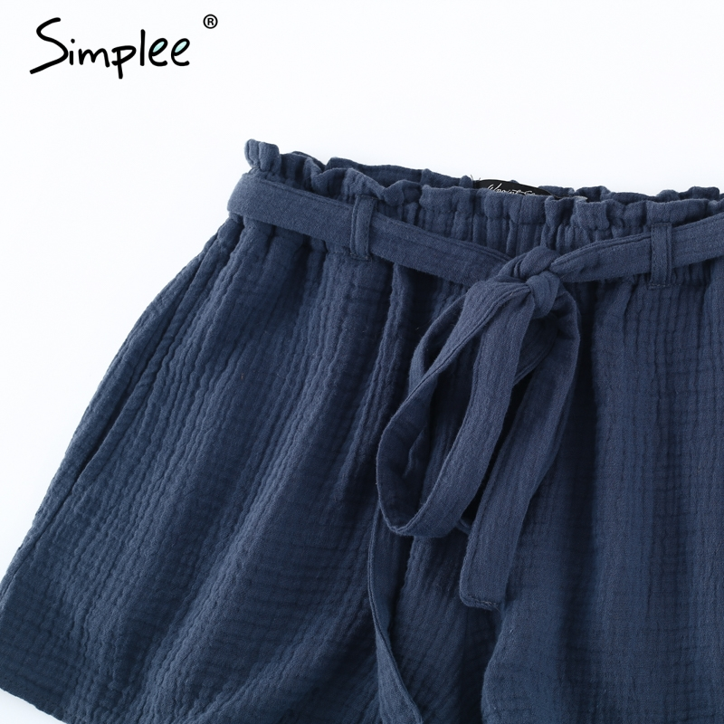 7640a226dc ... Bow streetwear high waist shorts women Fashion summer beach sash shorts  sexy Elastic casual cotton short black shorts. Out Of Stock. 🔍 Previous.  Next