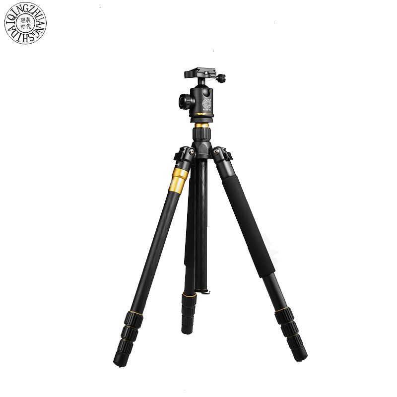 цена на QZSD Q999 Professional Tripod Monopod Stand & Ball Head Portable Magnesium Aluminium Alloy Q-999 Tripods For Digital SLR Camera