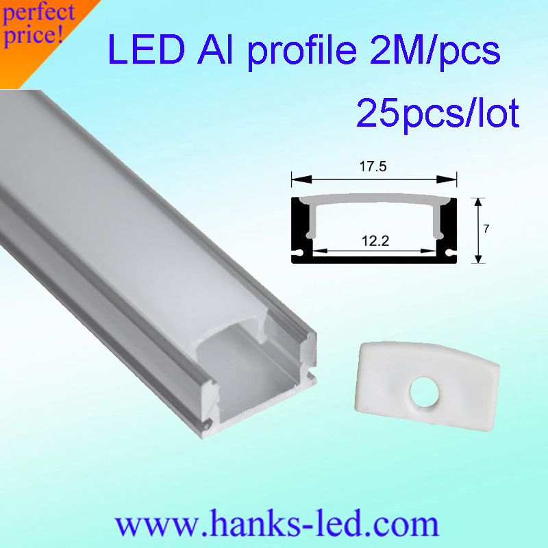Charitable 25pcs/lot 2.0m/pc Led Aluminum Profile For 5050 5630 Led Strip,milky/transparent Cover For 12mm Pcb,tape Light Housing Pretty And Colorful