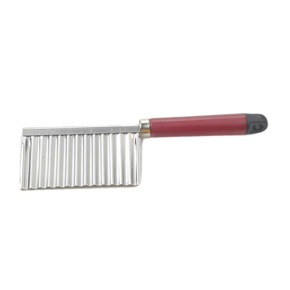 감자 물결 모양의 칼 칼 스테인레스 스틸 주방 가제 야채 과일 절단 필러 요리 도구 주방 나이프 액세서리