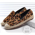 Neutral Impresión Alpargatas de Cuero de Múltiples capas De Tela Suela de Ure 34-39 Llanura Crin Zapatos de Alpargata Zapatos de Las Mujeres de China