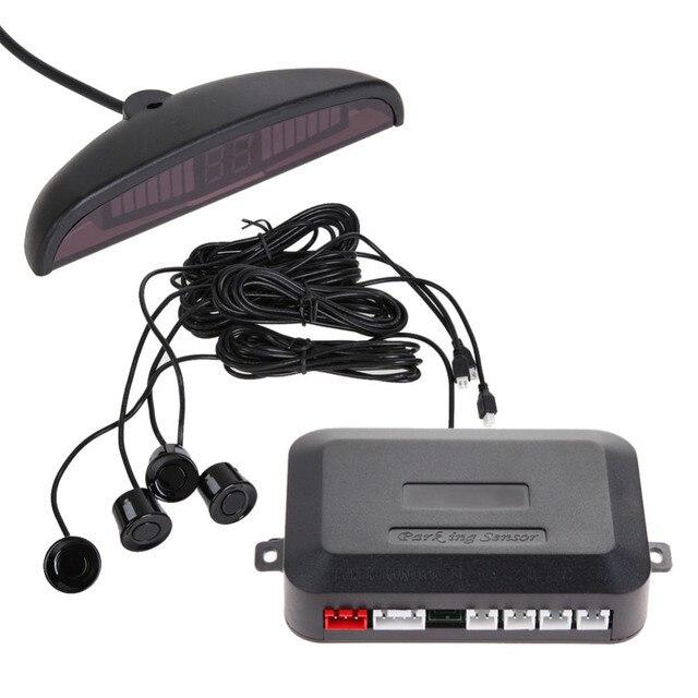 Excellent 4 Sensors LED Car Parking Sensor Assist Reverse Backup Radar Monitor System Backlight Display Parktronic