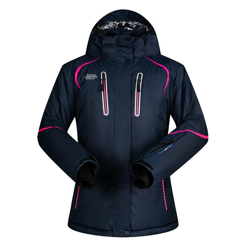 Femmes Veste de Ski D'hiver Imperméable 2018 Extérieure Veste Snowboard Manteau Femme Neige Veste de Ski Femme Coupe-Vent Respirant