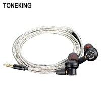 Original TONEKING Tomahawk Z IN EAR Earphone Metal Earphones DIY HIFI Headsets With MMCX Interface Silver