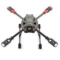 JMT J630 630mm Carbon Fiber 4 axis Foldable Rack Frame Kit High Landing Skid for DIY Quadcopter RC Drone