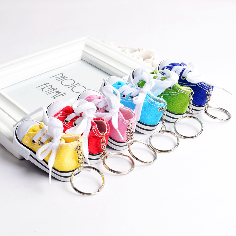 037ae4cb517b Mini 3D sneaker keychain canvas shoes key ring Tennis Shoe Chucks Keychain  Favors-in Key Chains from Jewelry   Accessories on Aliexpress.com