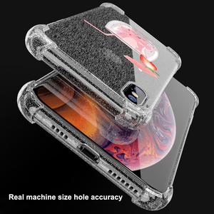 Image 4 - Heyytle Transparent Glitter Case For iPhone 8 7 Plus 6 6s Airbag Shockproof Case For iPhone XR X XS MAX 9 Soft TPU Cover Coque