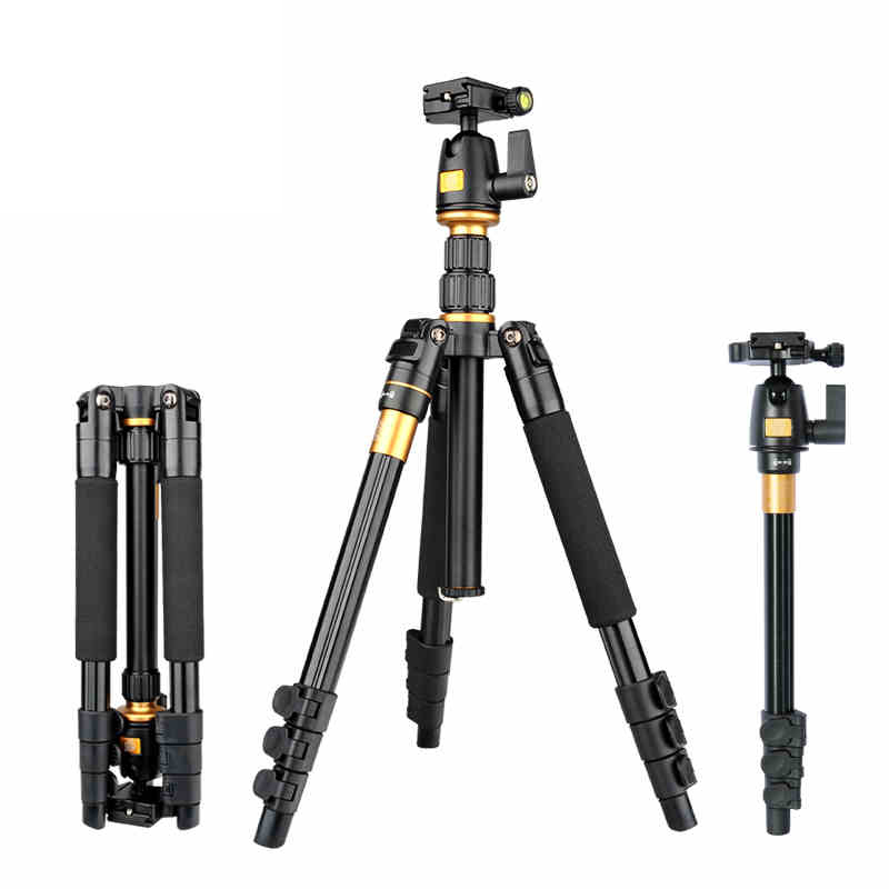 High Quality Portable Magnesium Aluminium Alloy Light Weight Tripod Monopod Q-555 Tripod+Ball Head+ Pocket Kit DHL free shipping free shipping 1piece lot top quality 100% aluminium material waterproof ip67 standard aluminium box case 64 58 35mm