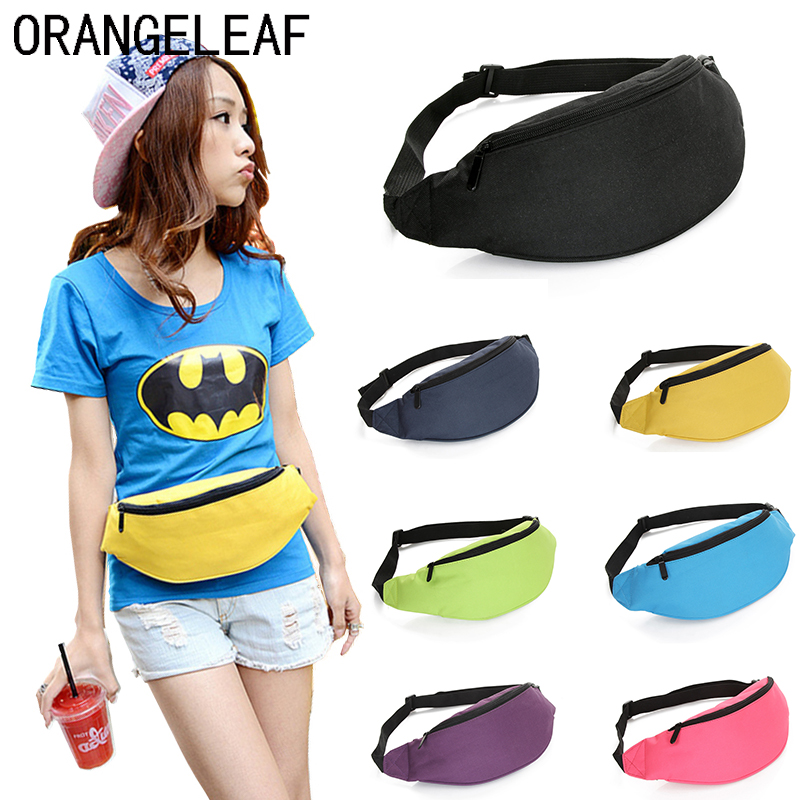 Fashion Fanny Pack For Women Men Waist Bag Colorful Unisex Waistbag Belt Bag Zipper Pouch Packs 110cm Belt Length Factory stylish mid waist zipper fly blue ankle length jeans for women