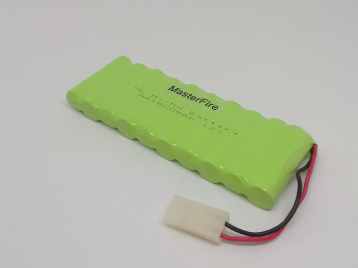 Double-deck 12V 1800mAh 10x AA Rechargeable Ni-MH RC Battery Pack w// Tamiya Plug
