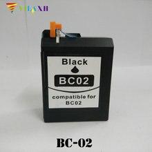 1PK BC-02 for Canon BC02  BK Ink Cartridges BJ-100 200 230 BJC- 150 210 240 250 251 255 265SP 1000