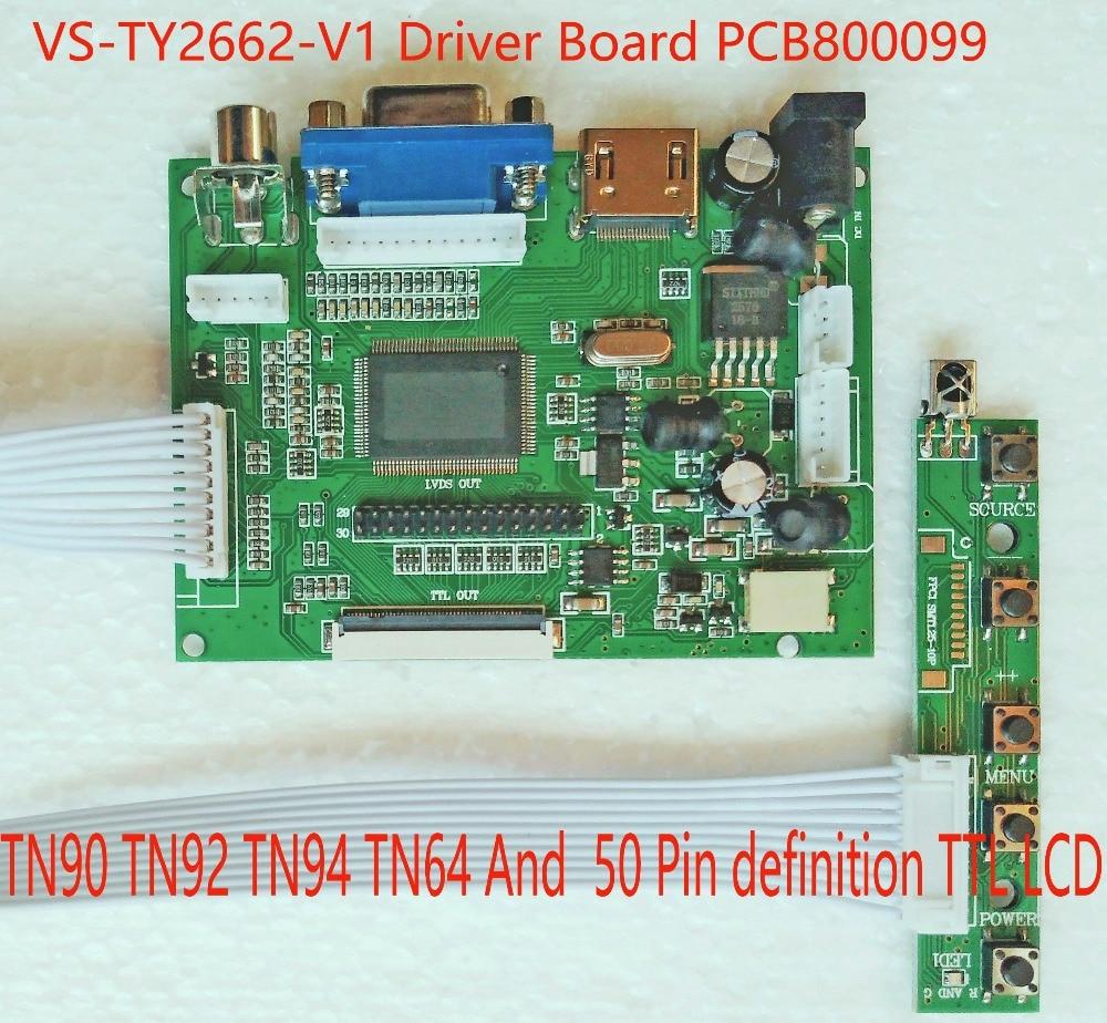 HDMI Driver Board TTL VGA LVDS AV  Universal With Programmer USB Burnner PCB800099