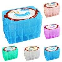 30グリッド透明なプラスチッククラフトビーズジュエリーストレージオーガナイザーコンパートメントツールボックスカイシャorganizadora家庭用収納用