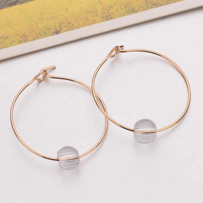Fashion Earrings Jewelry Circle Imitation Pearls Transparent Earrings For Women Glass Sexy Retro Earrings Women Gift Wholesale