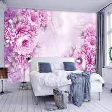 Vintage hand-painted romantic rose TV background wall professional production wallpaper mural custom poster photo