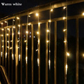 4M*0.6M 120 LED Icicle String Lights Christmas xmas Fairy Lights Outdoor Home Wedding/Party/Curtain/Garden Decoration Connector