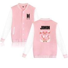 Новый KPOP Bangtan Обувь для мальчиков BTS новый альбом Бейсбол равномерное флис свитер пальто хлопковая куртка пальто с капюшоном jaqueta розовый